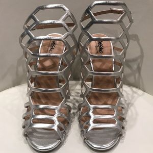 Mossimo Silver Gladiator Caged Sandal